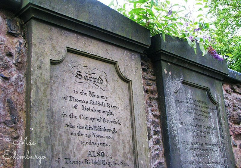 Ruta de Harry Potter y Edimburgo: la tumba de Voldemort