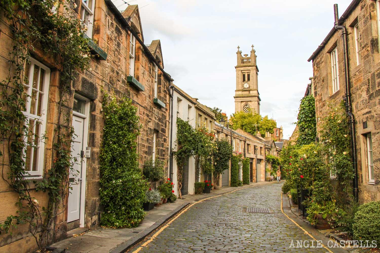 Circus Lane calle mas bonita Edimburgo Stockbridge