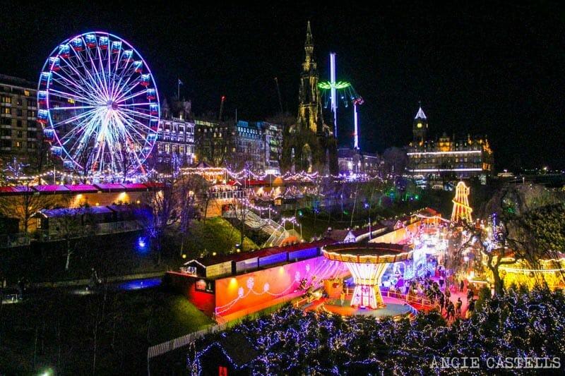 Las Navidades en Edimburgo - Atracciones Princes St Gardens