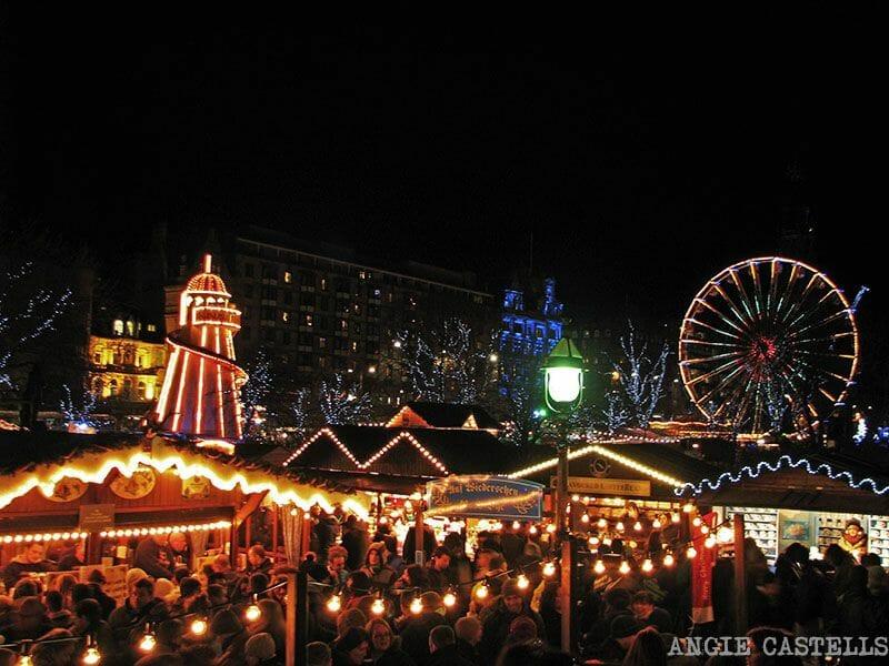 Feria navideña en Edimburgo