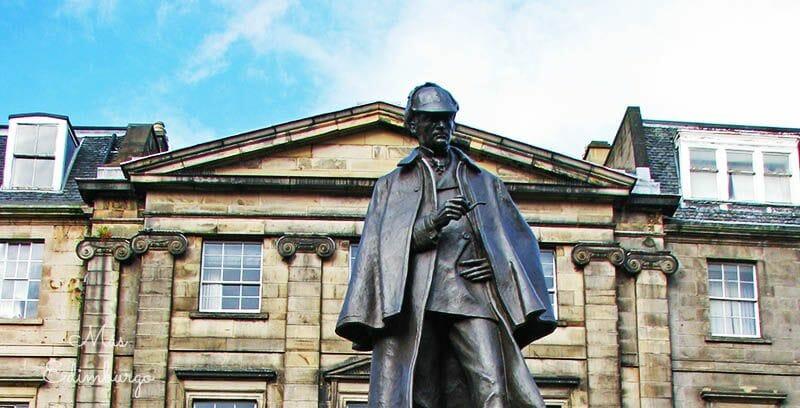 Edimburgo literario: La estatua dedicada a Sherlock Holmes en Picardy Place