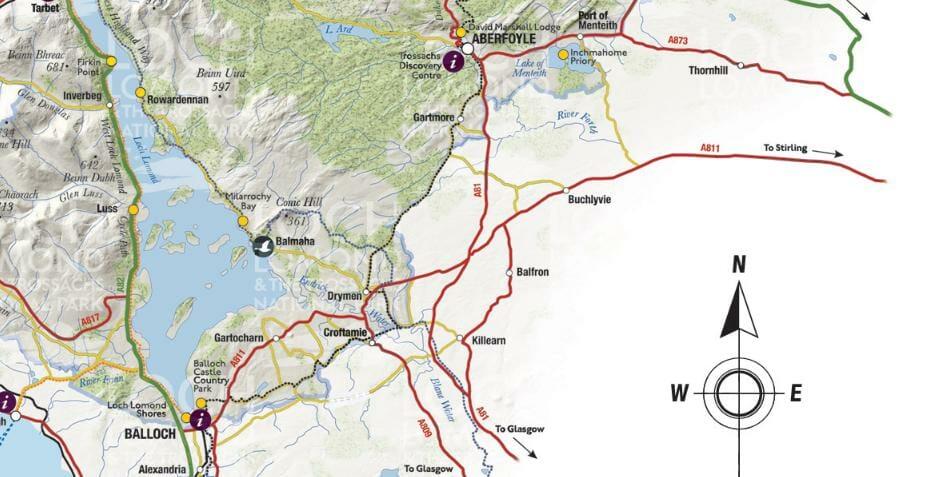 Mapa del Lago Lomond