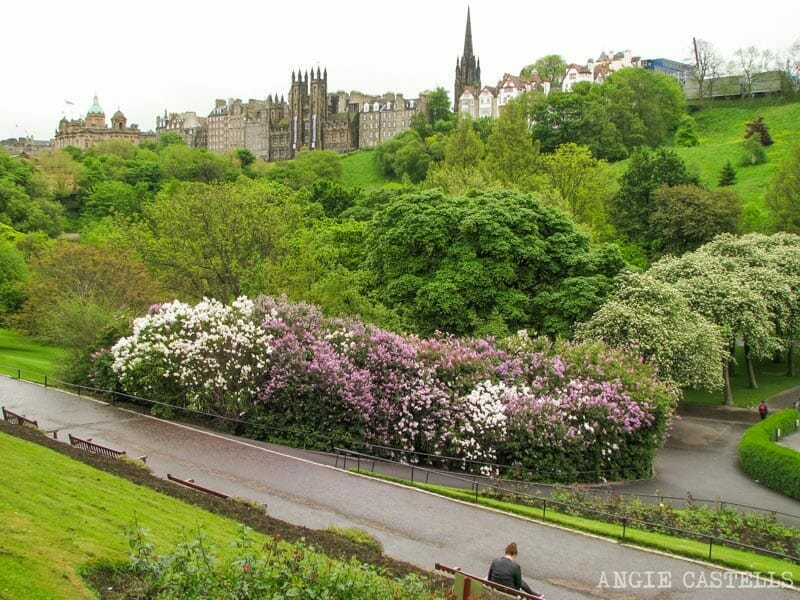 Visitar Edimburgo en primavera que hacer Princes St Gardens