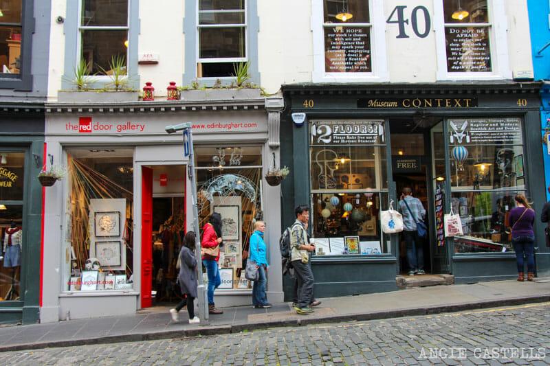 Victoria Street Edimburgo Old Town tiendas