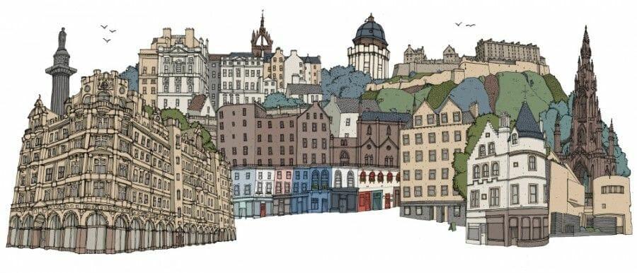 Dibujos de Edimburgo David Galletly