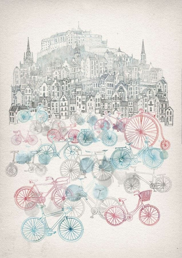 Dibujos de Edimburgo David Fleck 2