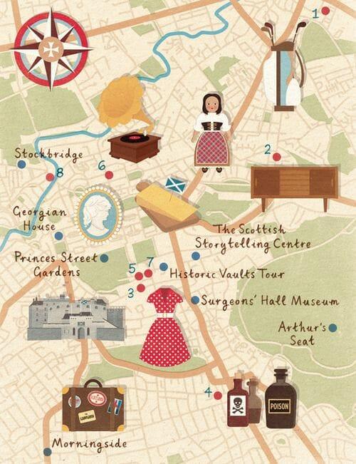 El mapa de Edimburgo de Zara Picken