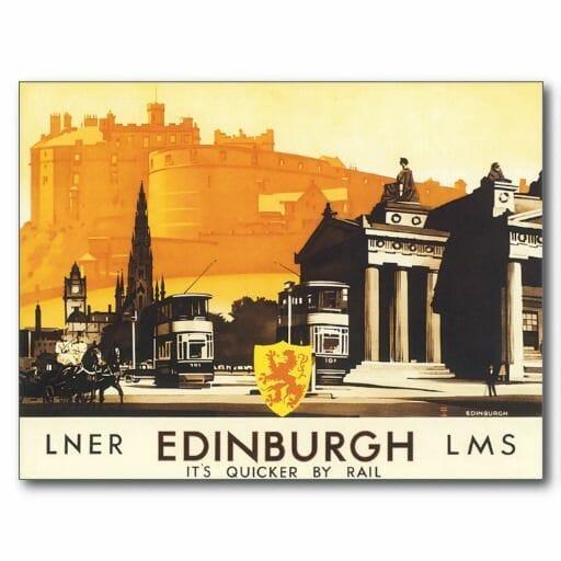 Postal de Edimburgo antigua