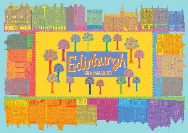 Dibujos de Edimburgo Yvette Earl Grassmarket