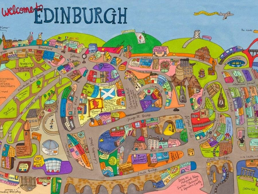 Mapa de Edimburgo Claire Murray