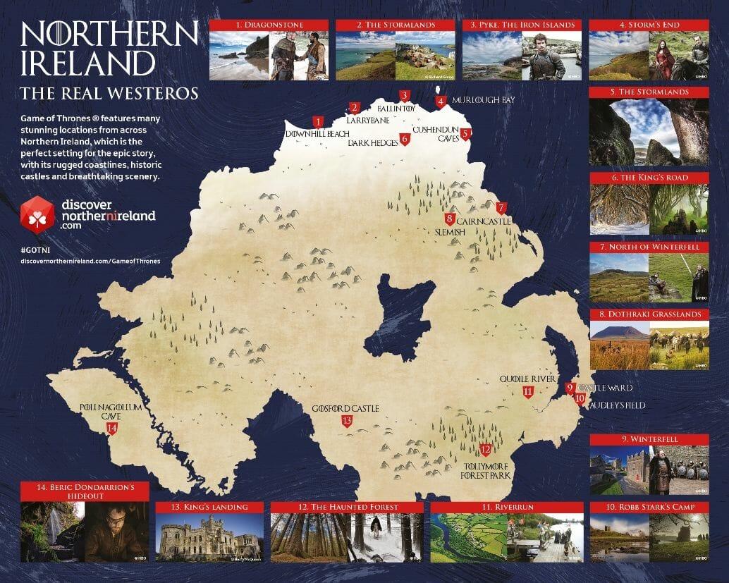 Mapa de Juego de Tronos Irlanda del Norte