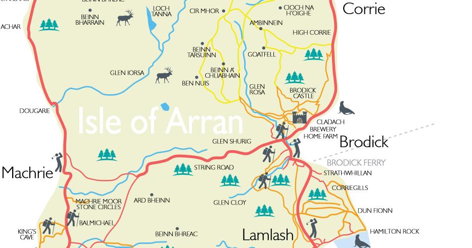 Mapa de la Isla de Arran