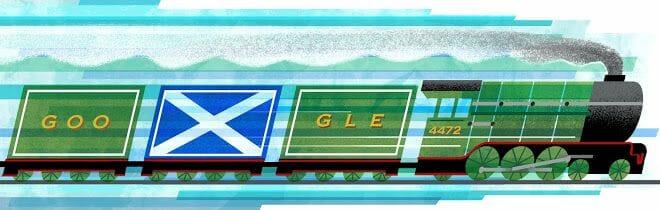 Doodle de Google para el día de St Andrews (2014)