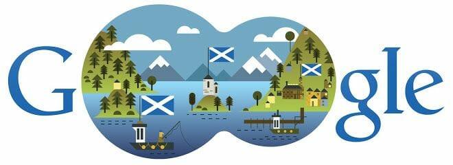 El doodle de Google del día de San Andrés de 2013