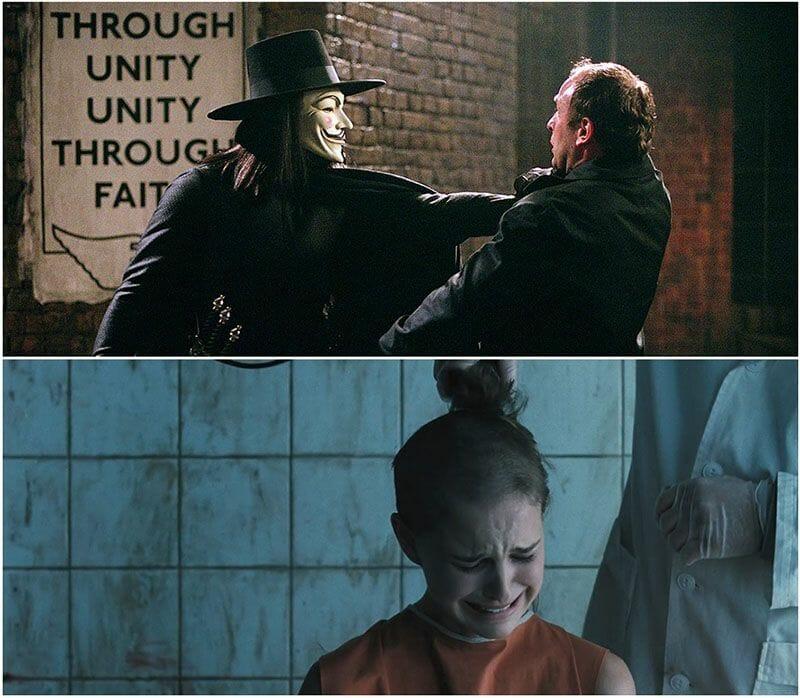 Natalie Portman es Evey Hammond en V de Vendetta.