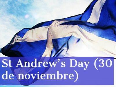 El día de St Andrews Escocia