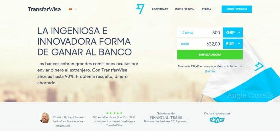 Transferir dinero con Transferwise Mas Edimburgo