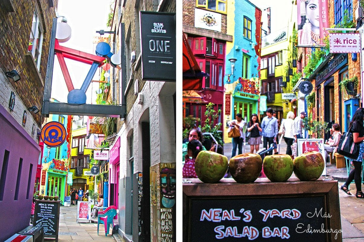 Neal's Yard, un oasis de color en Londres