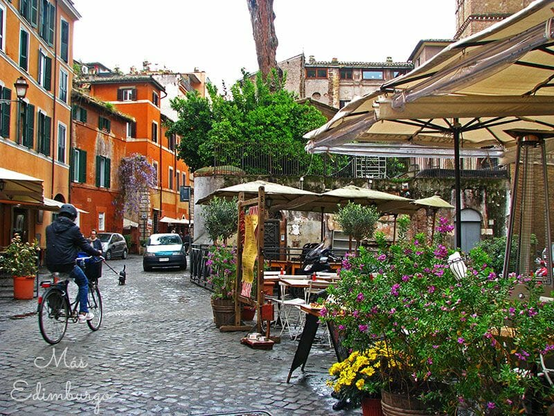El barrio del Trastevere, callejuelas y encanto en Roma
