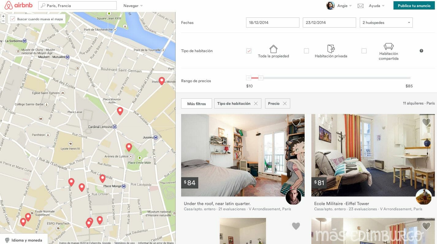 Alquilar un piso con Airbnb