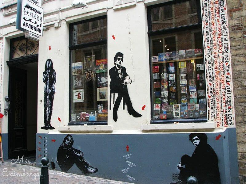 Ruta del comic y graffitis en Bruselas Mas Edimburgo