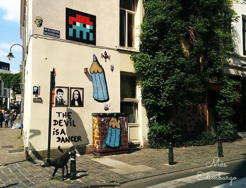 Ruta del comic y graffitis en Bruselas Mas Edimburgo 2