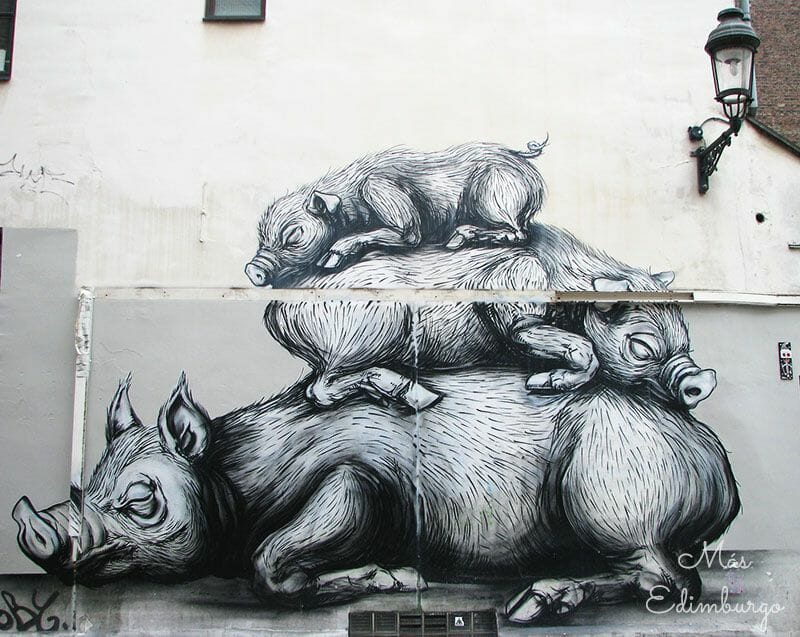 Ruta del comic y graffitis en Bruselas Mas Edimburgo 3