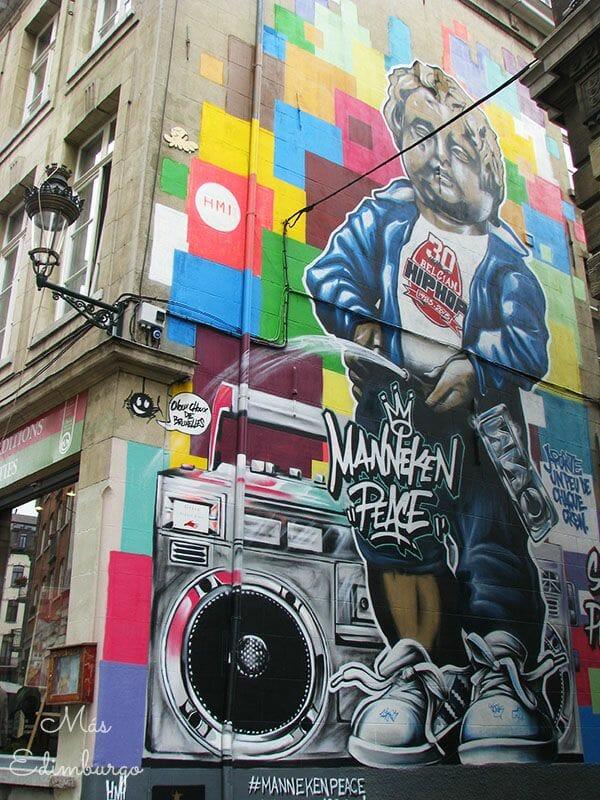 Ruta del comic y graffitis en Bruselas Mas Edimburgo 8