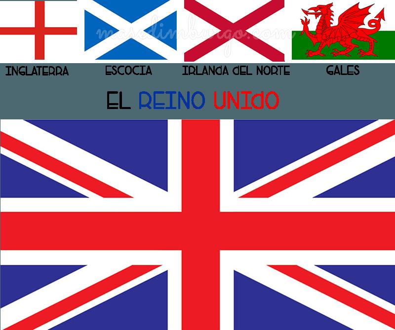 La diferencia entre Inglaterra, el Reino Unido y Gran Bretaña. Bandera del Reino Unido.