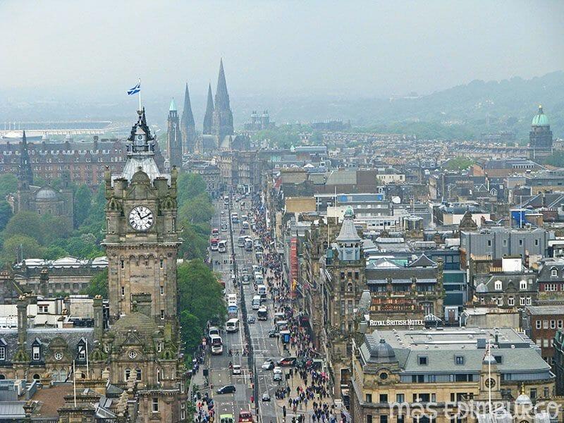 Edimburgo desde el Nelson Monument, en Calton Hill