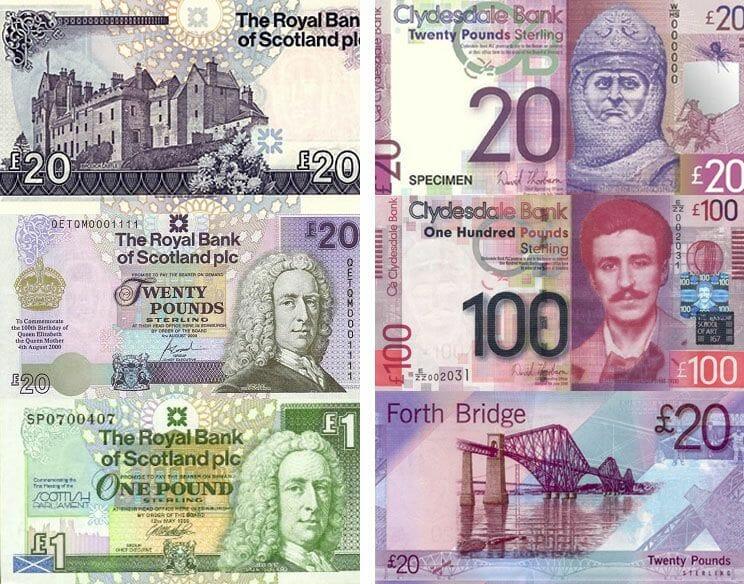La moneda de Escocia y las libras escocesas