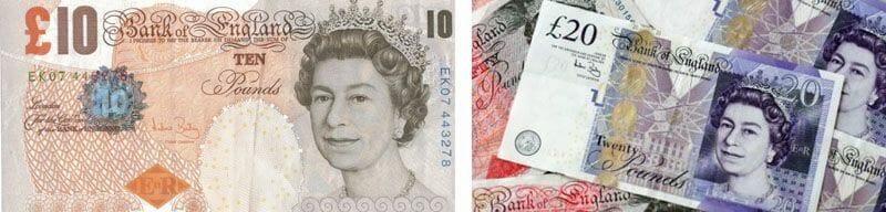 Los billetes ingleses y la moneda de Escocia