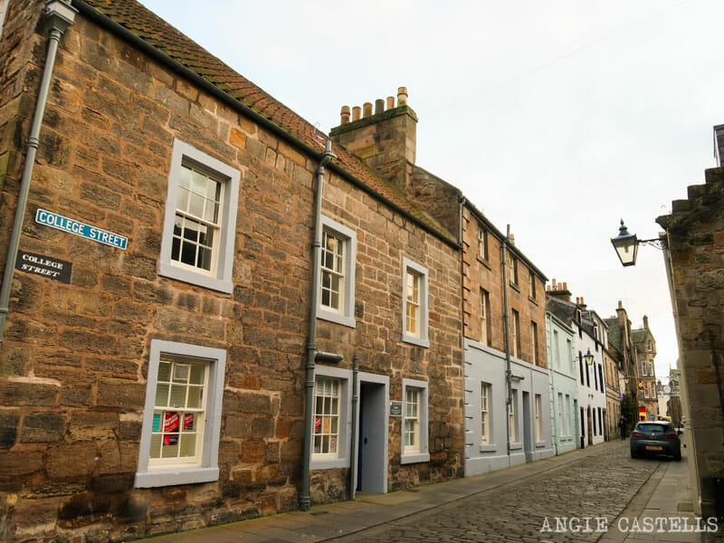 Calles de St Andrews, en Escocia