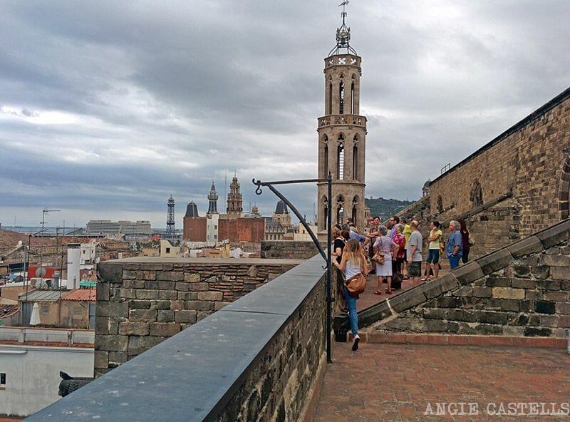 Barcelona desde la terraza de Santa Maria del Mar