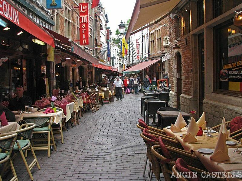 Comer en Bruselas Rue des Bouchers