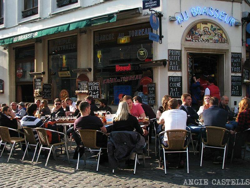 Comer en el centro de Bruselas
