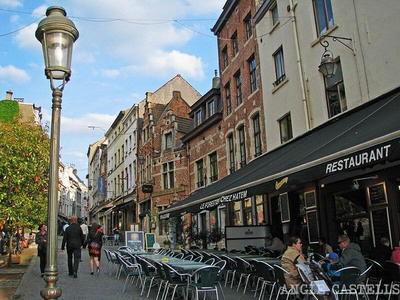 Comer en Bruselas Marolles Sablon