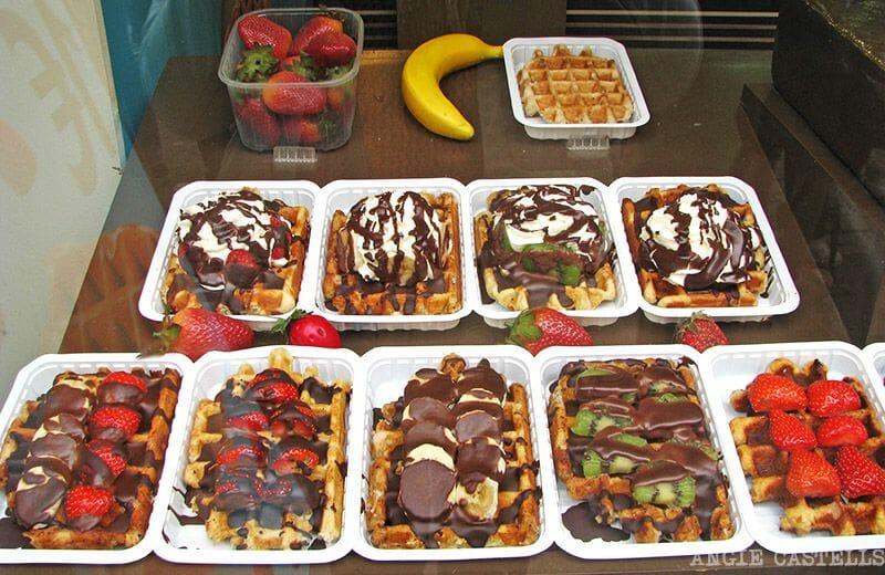 Comer en Bruselas gofres