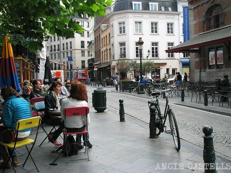 Comer en Bruselas Place Saint Gery