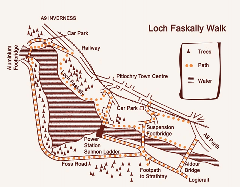 Mapa de Pitlochry Excursion Loch Faskally