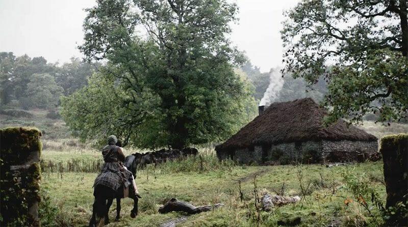 Claire Jamie Outlander Highland Folk Museum