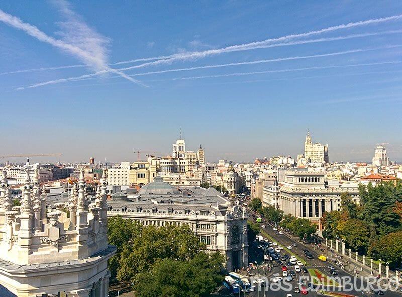 Un día en Madrid, mirador de la Cibeles