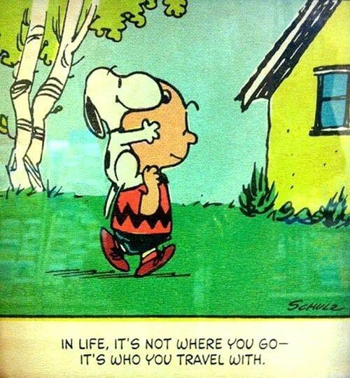 Viajar en buena compañia Snoopy