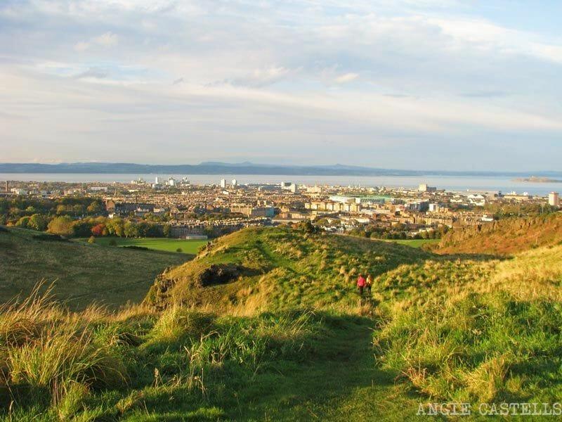 Arthur's Seat y vistas de Edimburgo
