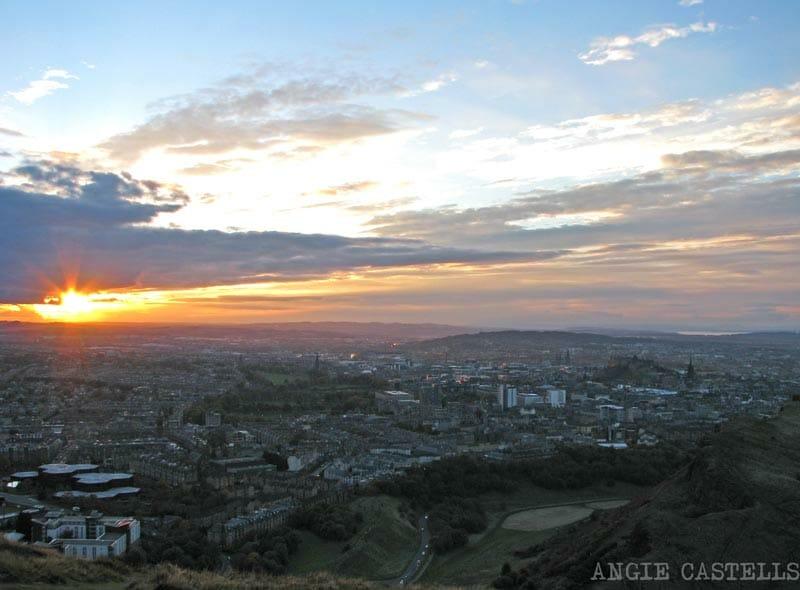 Atardecer en Edimburgo Arthurs Seat