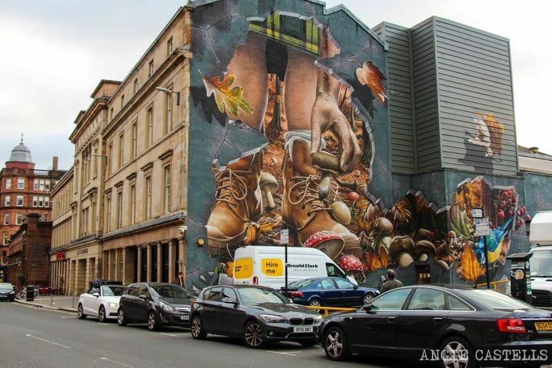 Ruta de grafitis y arte urbano de Glasgow: los animales de Escocia