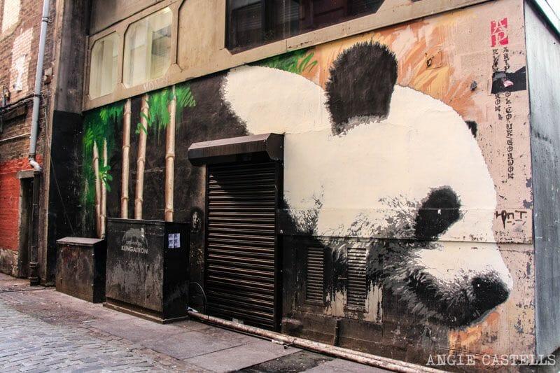 Ruta de grafitis y arte urbano de Glasgow: el panda