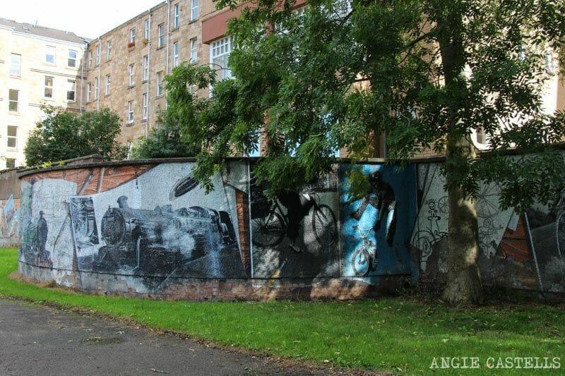 Ruta de grafitis y arte urbano de Glasgow: historia del transporte en Escocia