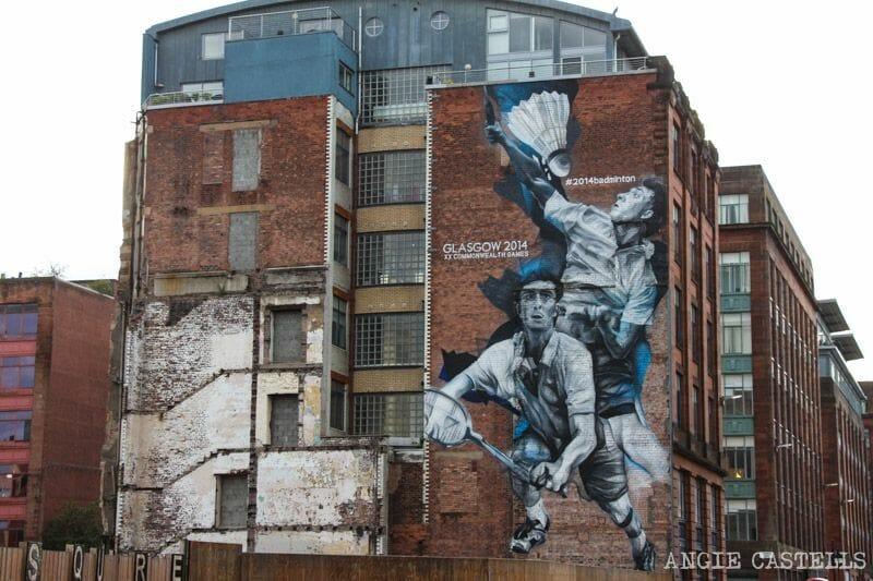 Ruta de grafitis y arte urbano de Glasgow: badminton