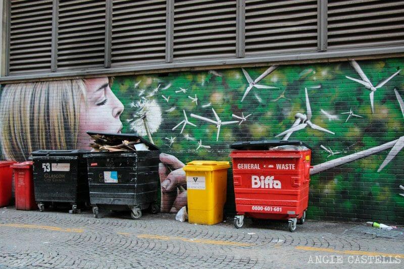 Ruta de grafitis y arte urbano de Glasgow: un soplo de viento